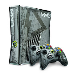 Xbox 360 Limited Edition Call of Duty: Modern Warfare 3 Console, Wireless Headset with Bluetooth and Wireless Controller