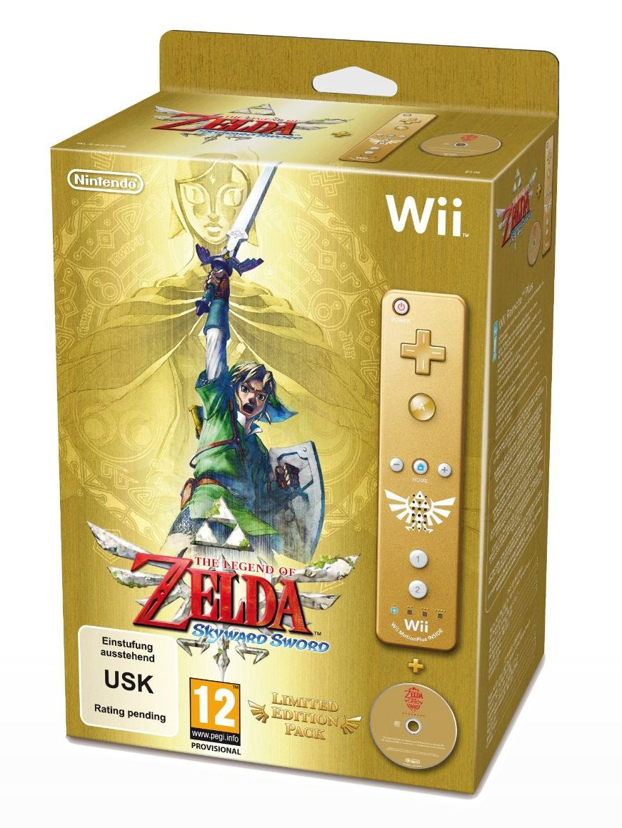 The Legend of Zelda: Skyward Sword Opening Trailer – LE Bundle (Gold Wii Remote)